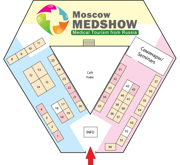 Stand Plan of Moscow SPASHOW — International SPA & Wellness Exhibition