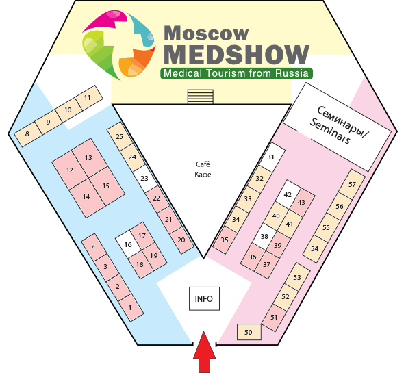Stand Plan of the Moscow MedShow Exhibition