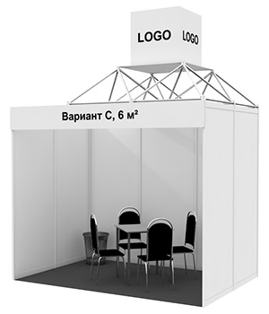 Stand 6 sq. m, Variant C